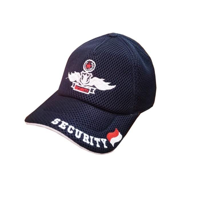 Jual Topi Security  Satpam Jala- Topi Jala  Jaring warna biru ... e22f2a793c