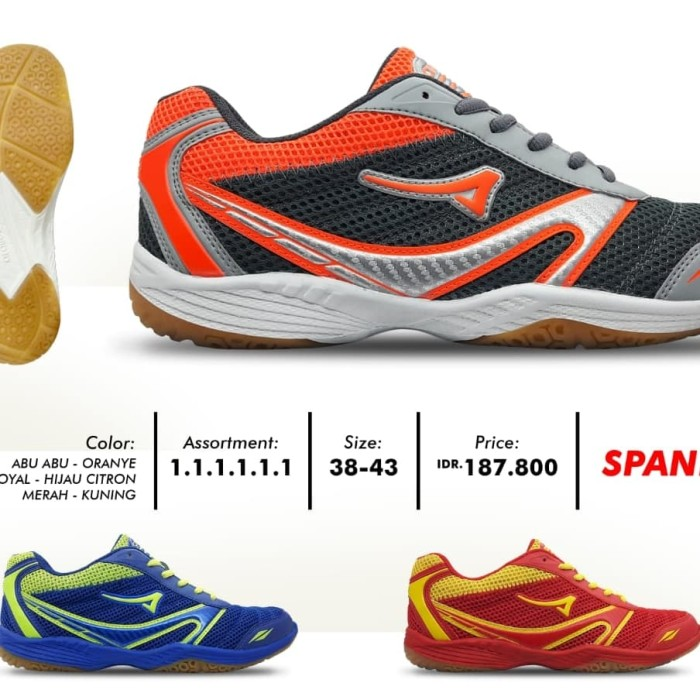 Review Sepatu Badminton Volley Ardiles Spandam 38-43 Di Kota ... f1480bf579