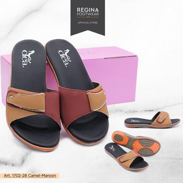 harga Dea sandal flat wanita 1702-28 camel/maroon size 36-41 -  37 Tokopedia.com