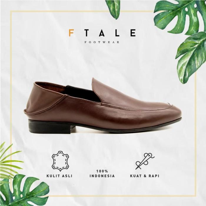 ftale - parker patina brown /sepatu pria loafers kulit murah - patina brown 42