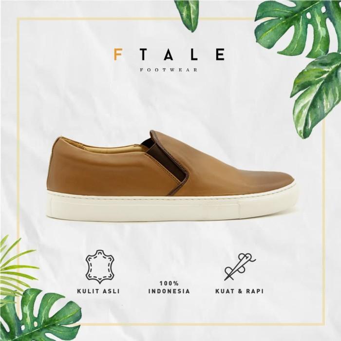 ftale - hector milling patina cuoio / sepatu pria sneakers kulit murah - patina cuoio 40