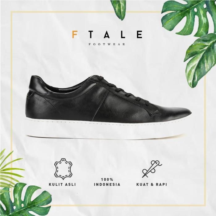ftale - juwan black / sepatu pria sneakers kulit murah berkualitas - hitam 41