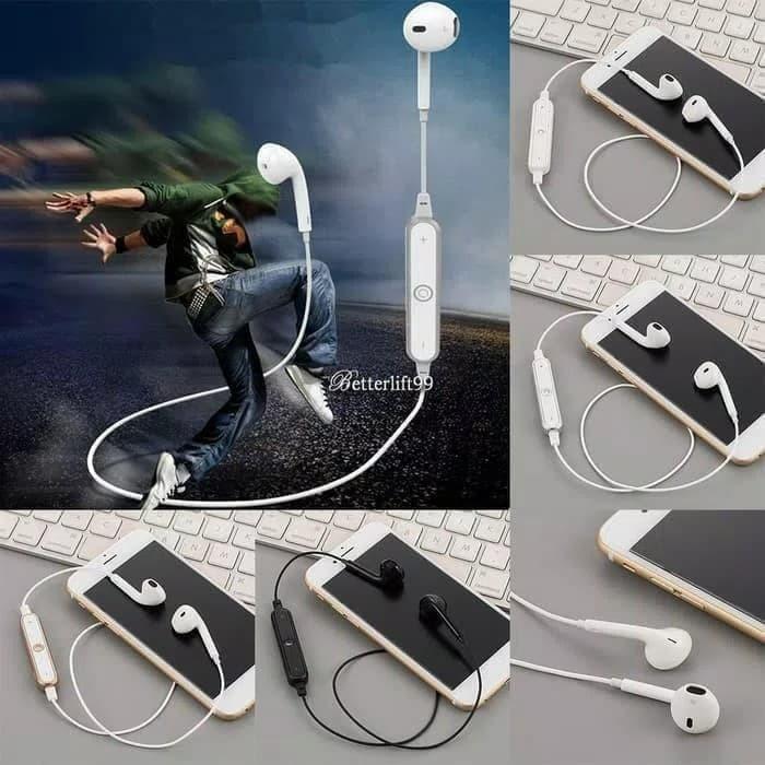 harga Headset bluetooth s6 earphone wireless earbuds sport stereo universal Tokopedia.com