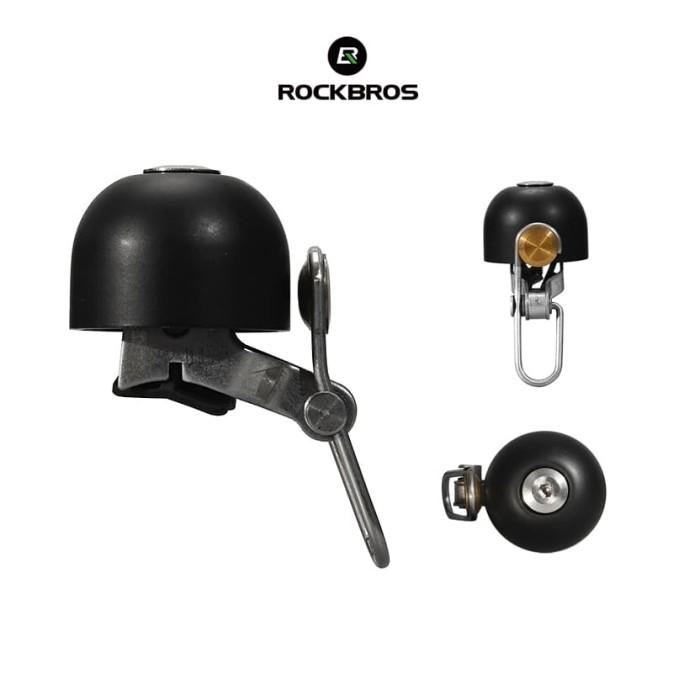 Foto Produk ROCKBROS 15-1B Bicycle Metal Bell Stainless Loud - Bel sepeda BLACK dari Rockbros Indonesia