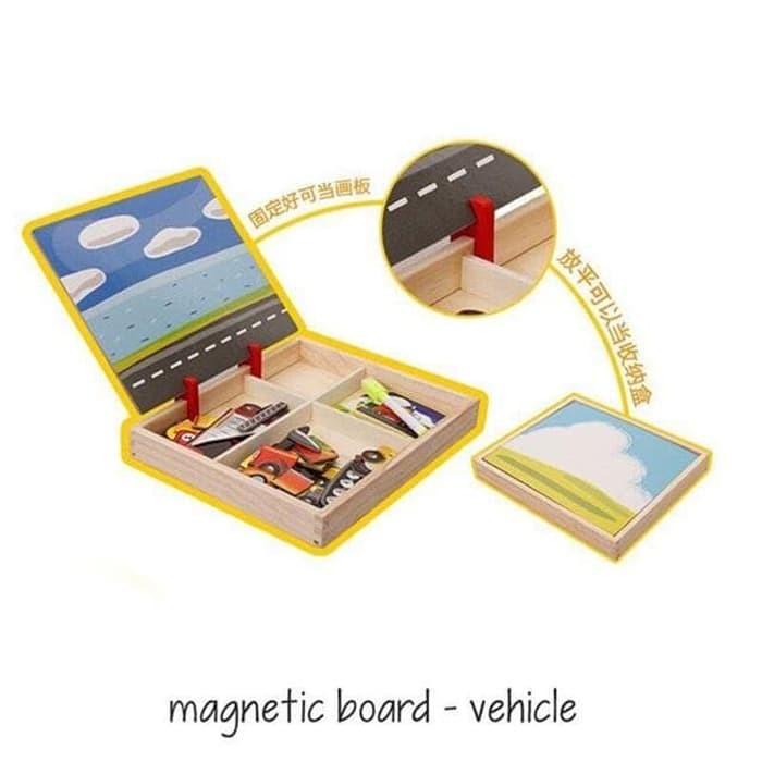 Edufuntoys - Magnetic Board Vehicle/ Papan Tulis Anak Tema Kendaraan/