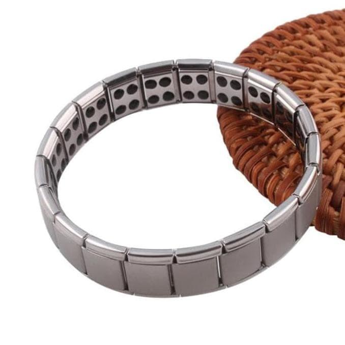 Men's Jewelry Health Therapy Magnetic Titanium Bracelet - Gelang Pria Terapi Kesehatan Magnet Infrared Ion Empat