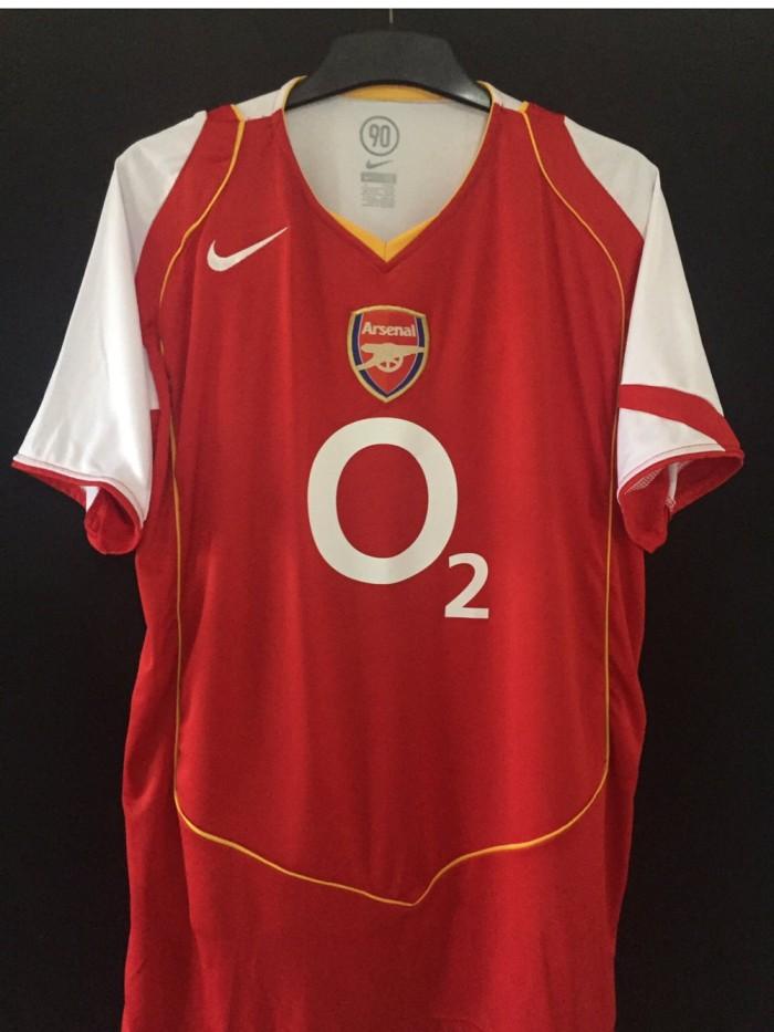 new arrival 64ed9 9739e Jual Jersey Arsenal Home 2004 Retro - DKI Jakarta - frena store   Tokopedia