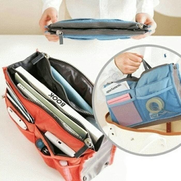 Korea Dual Bag - Tas Organizer / Bag in bag / Tas - Travel organizer