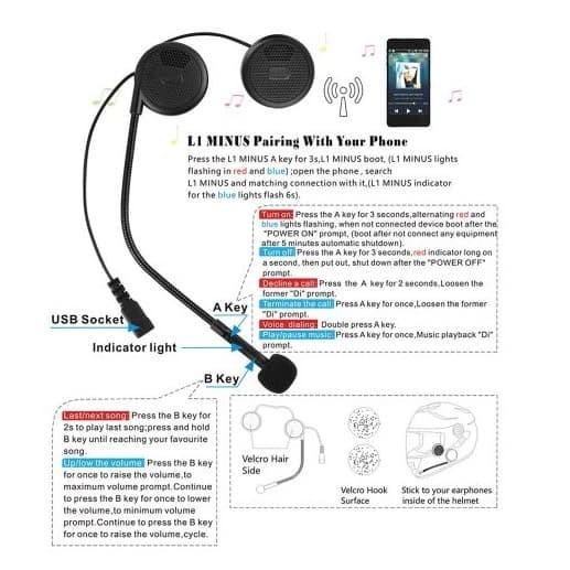 harga Headset bluetooth helm freedconn l1m wireless headphone stereo music Tokopedia.com
