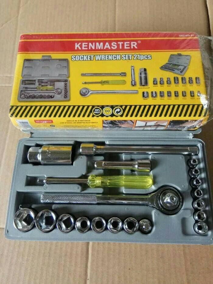 Foto Produk Kunci Shock - Kunci Sok - Kenmaster Original 21 Set 4mm - 19mm dari Warunglistrik