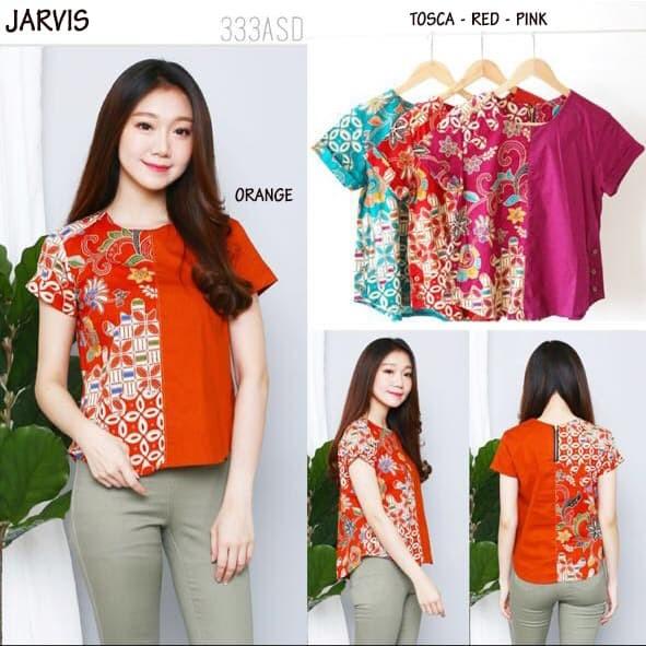 Jual Jarvis Top - Baju Batik Wanita   Blouse Wanita   Atasan Wanita ... b8c04da810