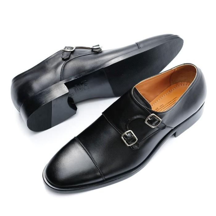 Jual ARGO BLACK Sepatu Monk Strap Kulit Sapi Asli Loafer - Jakarta ...