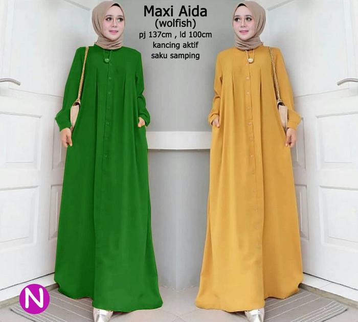 Atasan Wanita Muslim - Maxi Dress Aida - Dzikri Moeslim Collection 12122ffe47