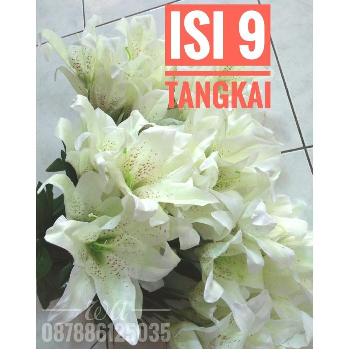 Jual Isi 9 Tangkai Bunga Lily Lili Artificial Lili Plastik