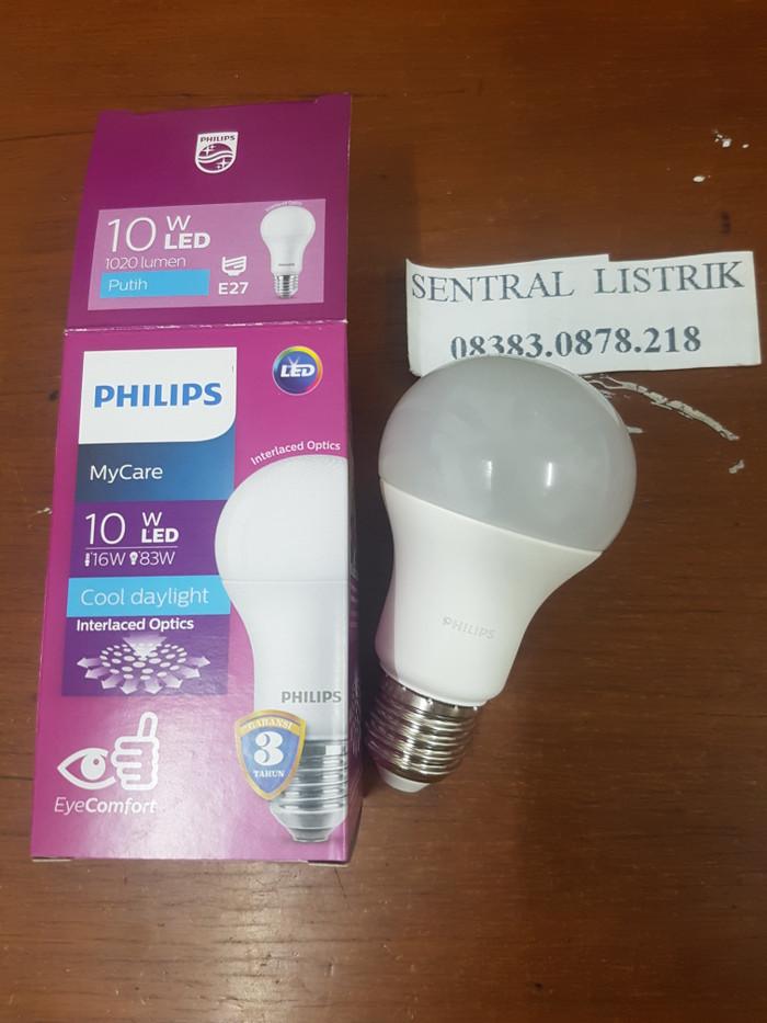 Lampu LED bulb 10w 10 watt 10 w Putih Philips Garansi 2th ledbulb
