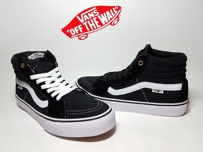 Jual sepatu skate vans SK8 black white