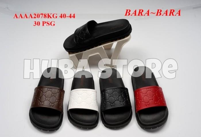 Foto Produk HUBA SANDAL PRIA SLOP JELLY SENDAL COWOK KARET IMPORT AAAA2078KG dari Huba Store