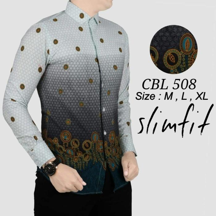 Kemeja Batik Pria Baju Lengan Panjang Baju Batik Modern Mbl07
