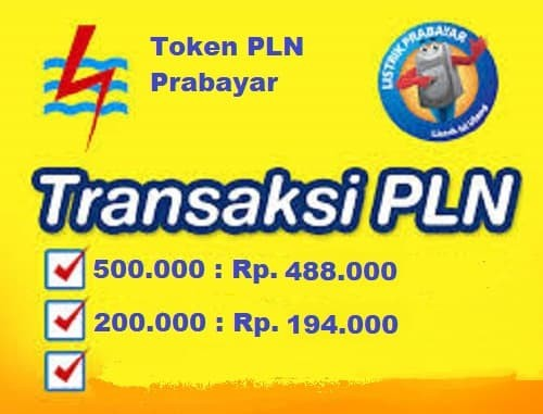 harga Token pln listrik prabayar 500.000 promo Tokopedia.com