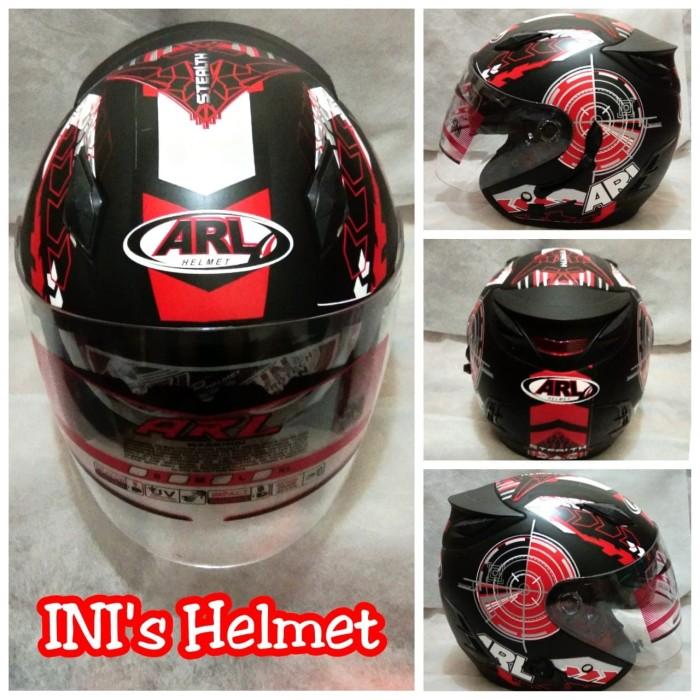 Helm Half Face SNI Centro ARL double visor dan ada slot anti maling
