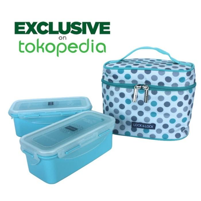 harga Lock&lock exclusive jumbo lunch box with bag lck762dt Tokopedia.com