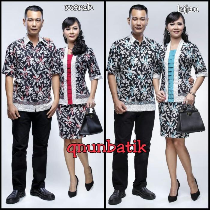 harga Sarimbit couple pasangan batik rok n blus jumbo xl adeva daun hitam Tokopedia.com