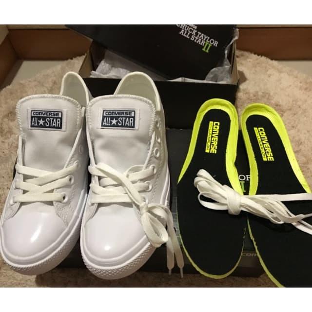 Jual Sepatu Converse All Star ChuckTaylor II White Original - import ... 30db318a89