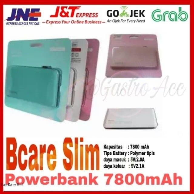 harga Bcare slim leather texture powerbank 7800 mah Tokopedia.com