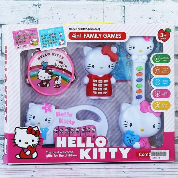 Foto Produk Mainan Anak Edukasi Music 4IN1 Family Games Hello Kitty dari Mainan Anak Edukatif