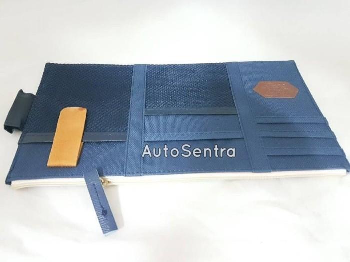 Sun Visor Mobil Car Organizer Simpan Uang Kartu HP dan Tiket Tol Kar