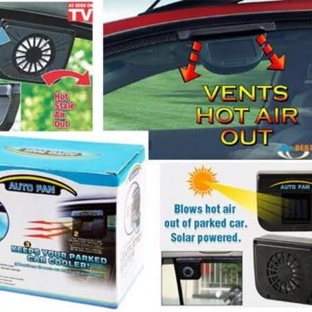 harga Auto fan-solar power auto cool fan-car cooler fan Tokopedia.com