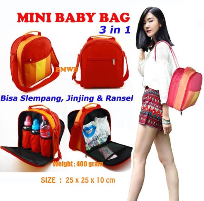 Mini baby bag backpack 3in1 tas bekal perlengkapan susu bayi ransel