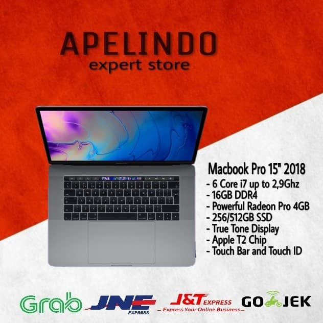 New Macbook Pro 2018 Mr942 8th Gen/16gb/512gb/15/gray - Blanja.com