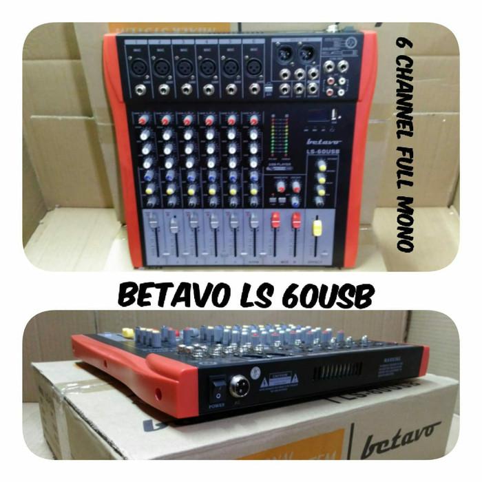 harga Mixer audio betavo ls 60usb 6channel Tokopedia.com
