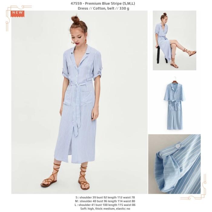harga Premium blue stripe (sml) dress -47559 Tokopedia.com