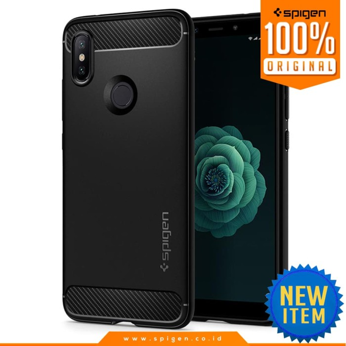 spigen xiaomi mi a2 / 6x case rugged armor original casing