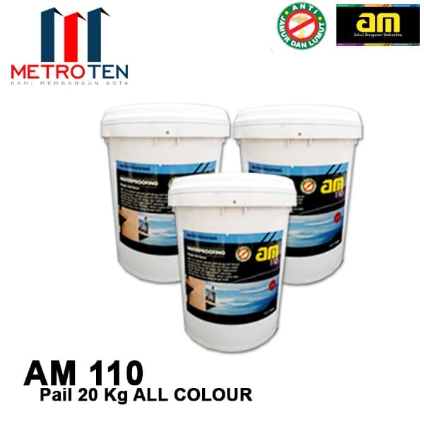 Image AM 110 Waterproofing 20 Kg Pail ALL COLOUR