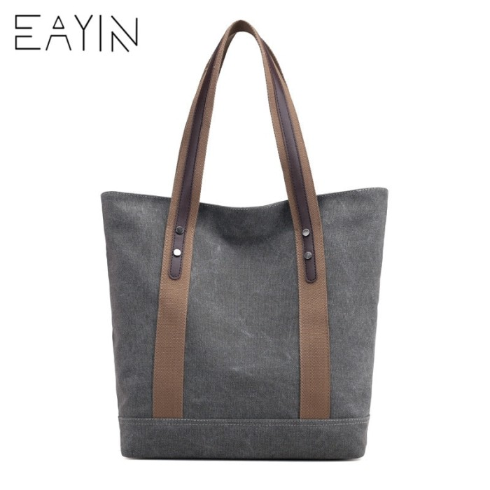 EAYIN Waterproof Nylon Canvas Bag Tote Bags Women Handbags Shoulder Ba. Category : Fashion Wanita