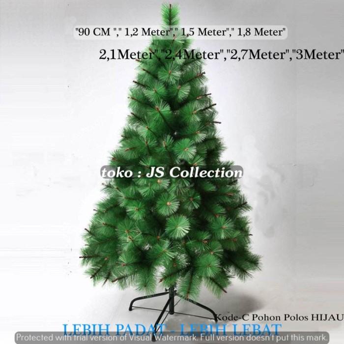 2.1 meter pohon natal polos 7c 7feet