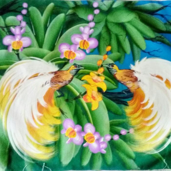 harga Lukisan burung cendrawasih (burung surga kayangan) 80x60 model e Tokopedia.com
