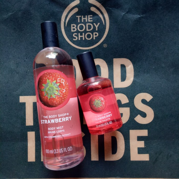 Paket Bodymist & Parfum EDT 30ml Strawbery The Body Shop Reject