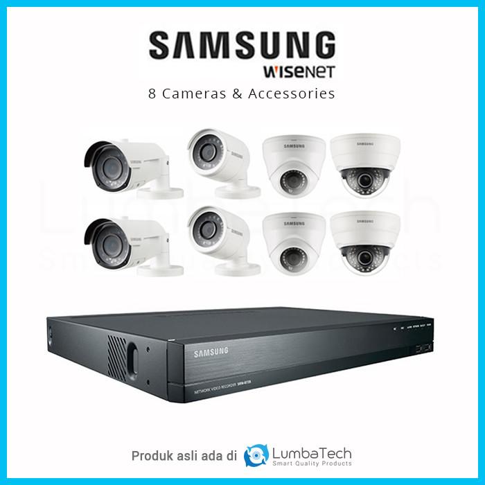 Jual Paket CCTV Samsung Wisenet 8 Camera DIJAMIN ORI Installer Profesional  - Kota Administrasi Jakarta Selatan - LumbaTech | Tokopedia