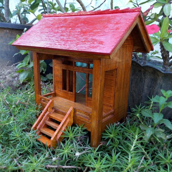 Jual Rumah Panggung Miniatur Kab Cirebon Gazelle Creative Shop Tokopedia