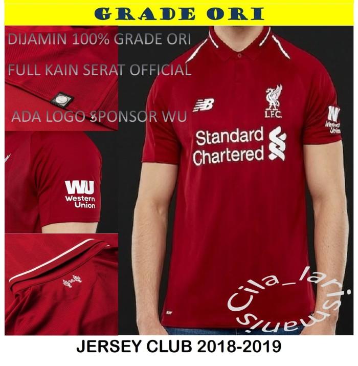 a4ca442284e Jual Jersey kaos baju bola liverpool home 2018-2019 grade ori ...