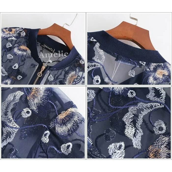 Jual Baju Outer Jacket Jaket Bomber Transparan Wanita Korea Import ... 65e7f953cc