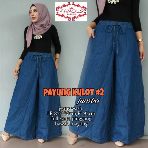 Jual Payung Kulor Jeans Wanita Celana Jeans Longgar Bawah Ootd Pants