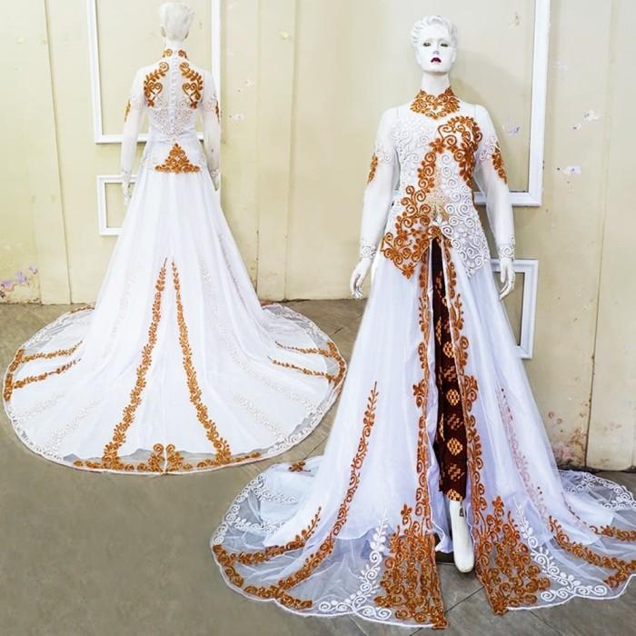 Jual Couple Kebaya Pengantin Ekor Tile Modern Gaun Pengantin Putih Gold Kota Surakarta Butik My Kebaya Tokopedia