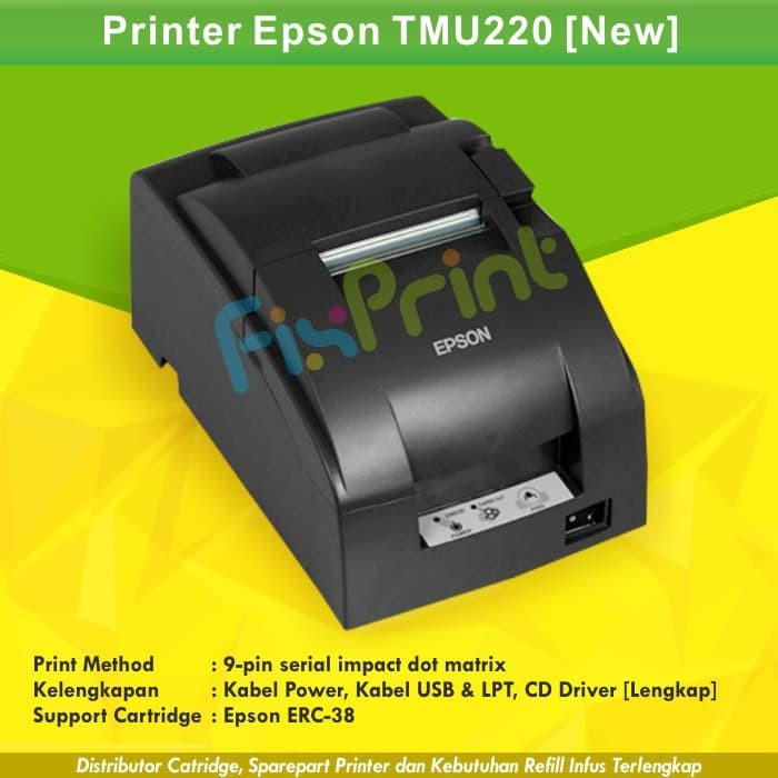 Printer POS / Kasir Epson TM-U220 TMU220 TMU 220 Dot Matrix 9-pin