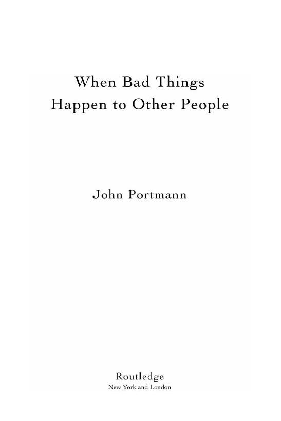 Foto Produk When Bad Things Happen to Other People dari Workshop Manual