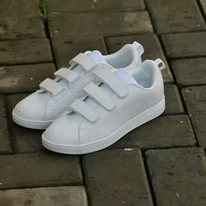 Jual Sepatu Adidas Neo Advantage Velcro Full White Original BNWB ... 75cf2c5ac1
